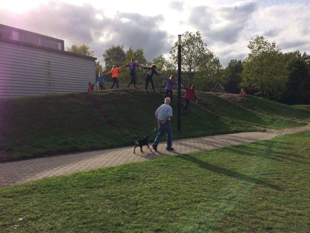 Het park in met The100Hands